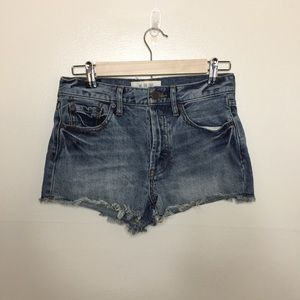 Free People Light Wash Shorts